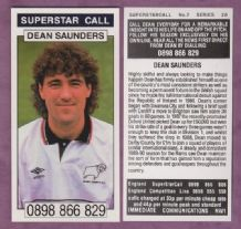 Derby County Dean Saunders Wales 7